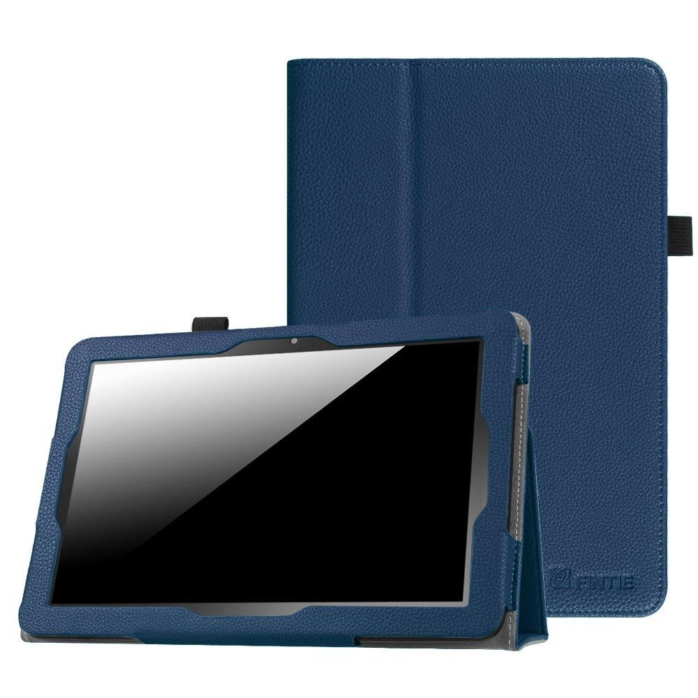Insignia 10.1 Inch Tablet NS-P10A7100 Case, Fintie Slim Fit Premium Vegan Leather Folio Case Cover with Stylus Holder for Insignia Flex NS-P10A7100 10.1-Inch Android Tablet, Navy