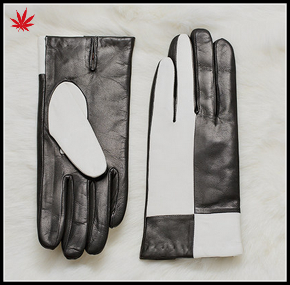 Ladies sheepskin leather gloves touch screen gloves