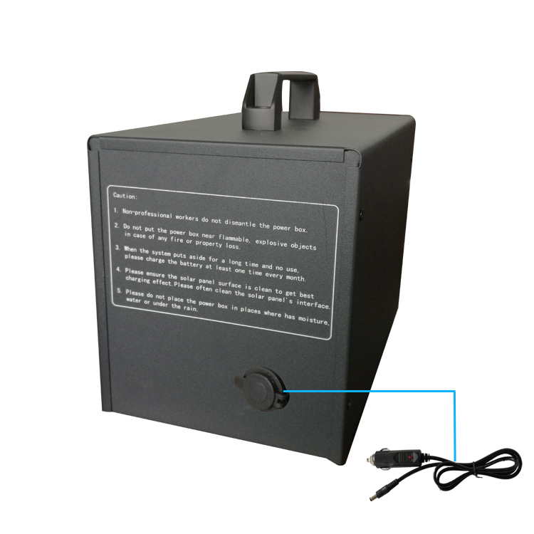 Hot sale 40Ah lead acid battery solar system with cigarette lighter