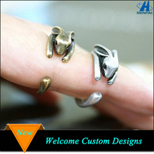 Ally Express Cheap Wholesale Animal Engraved Bunny Rabbit Shaped Rings