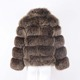 Fox Fur Raw With Head Tail Natural Color Real Red Fox Garment High Quality Genuine Fox Skin Pelt