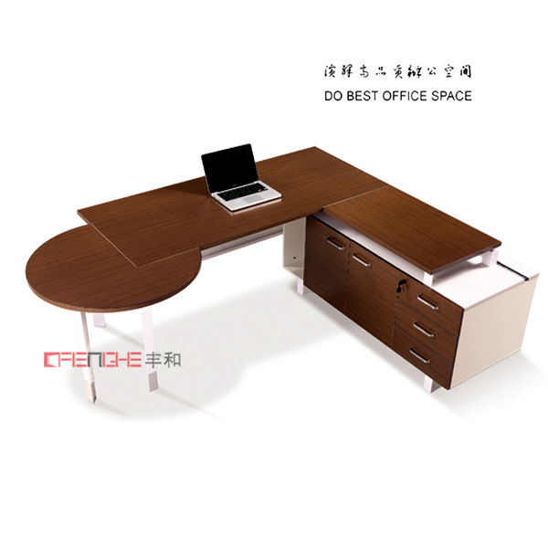 standing executive wooden office desk,height adjustable desk