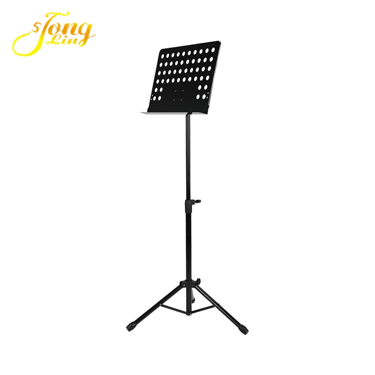 Sheet conductor adjustable metal music book stand