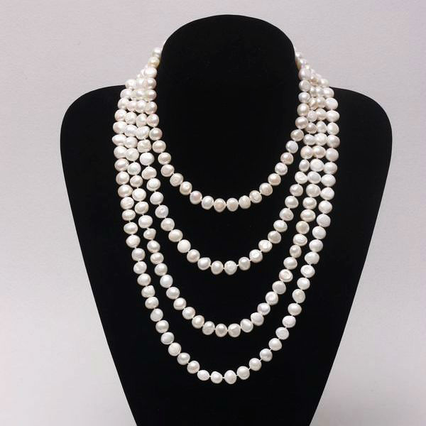 Fashionable Pearl Necklace Jewelry Custume Pearl Necklace Design ...
