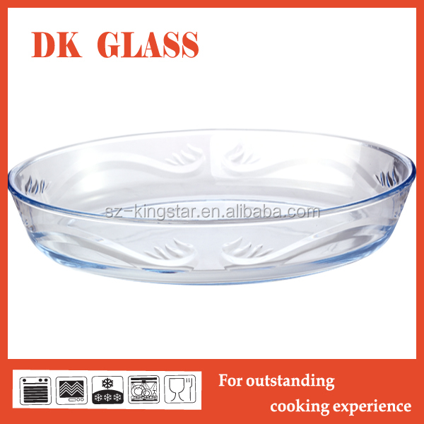 Microwave oven safe high borosilicate glass baking dish/ Ovenproof oval glass baking dish for cooking