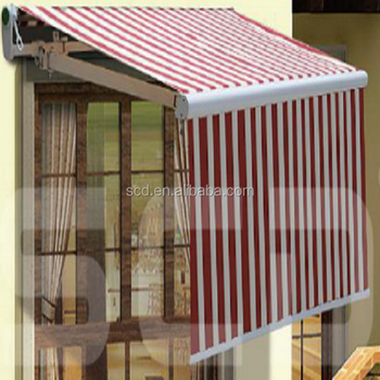 Aluminum Retractable Used Awnings With Large Valance