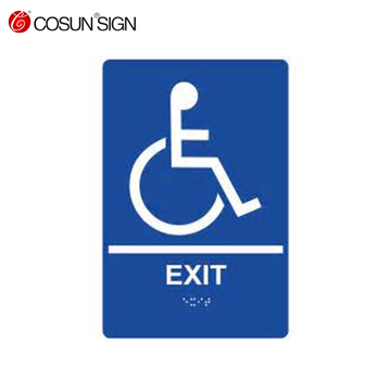 acrylic ada braille sign for restroom toilet, door sign