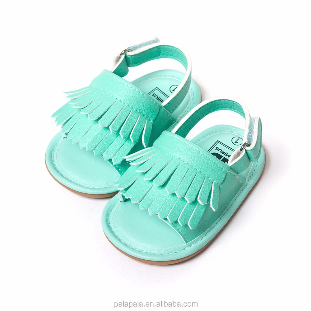 Free shipping new 50pairs/lot fringe and bow pu leather moccasins baby sandals shoes wholesale