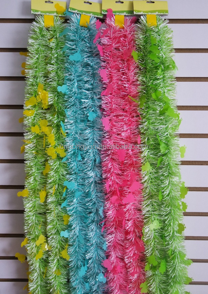 2M*10CM*6P chicken decorative tinsel , party tinsel , tinsel garland