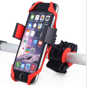 Universal adjustable silicone handlebar mountain bike bicycle phone mount