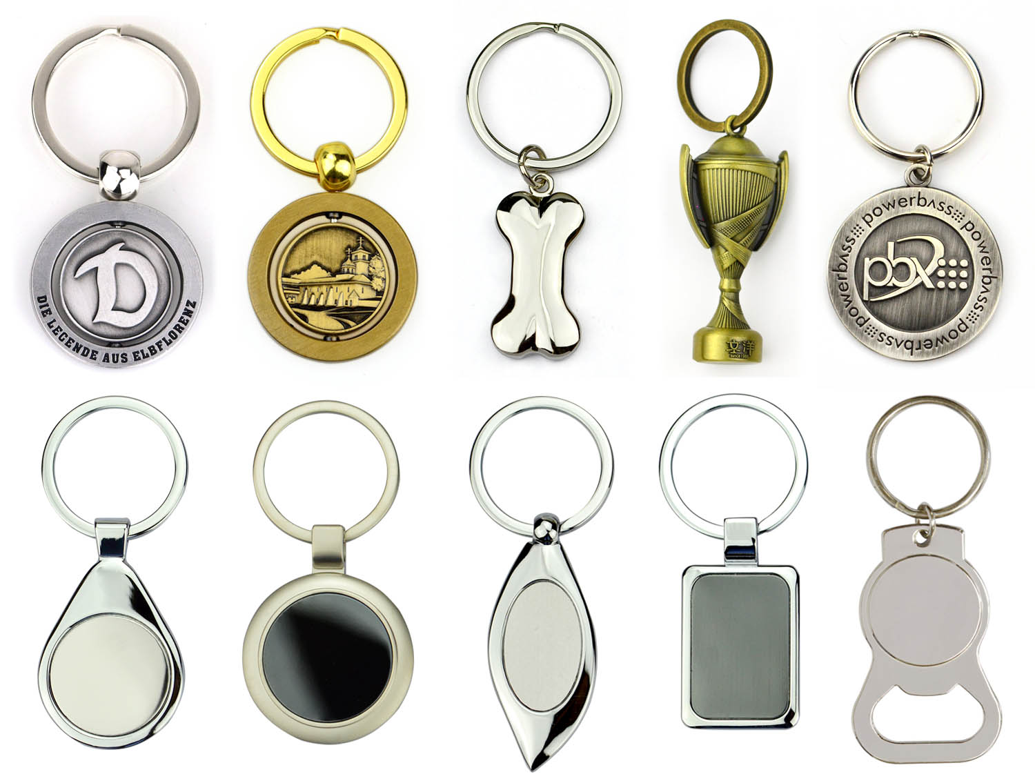China hardware factory 3D nautical metal custom antique brass hook keychain