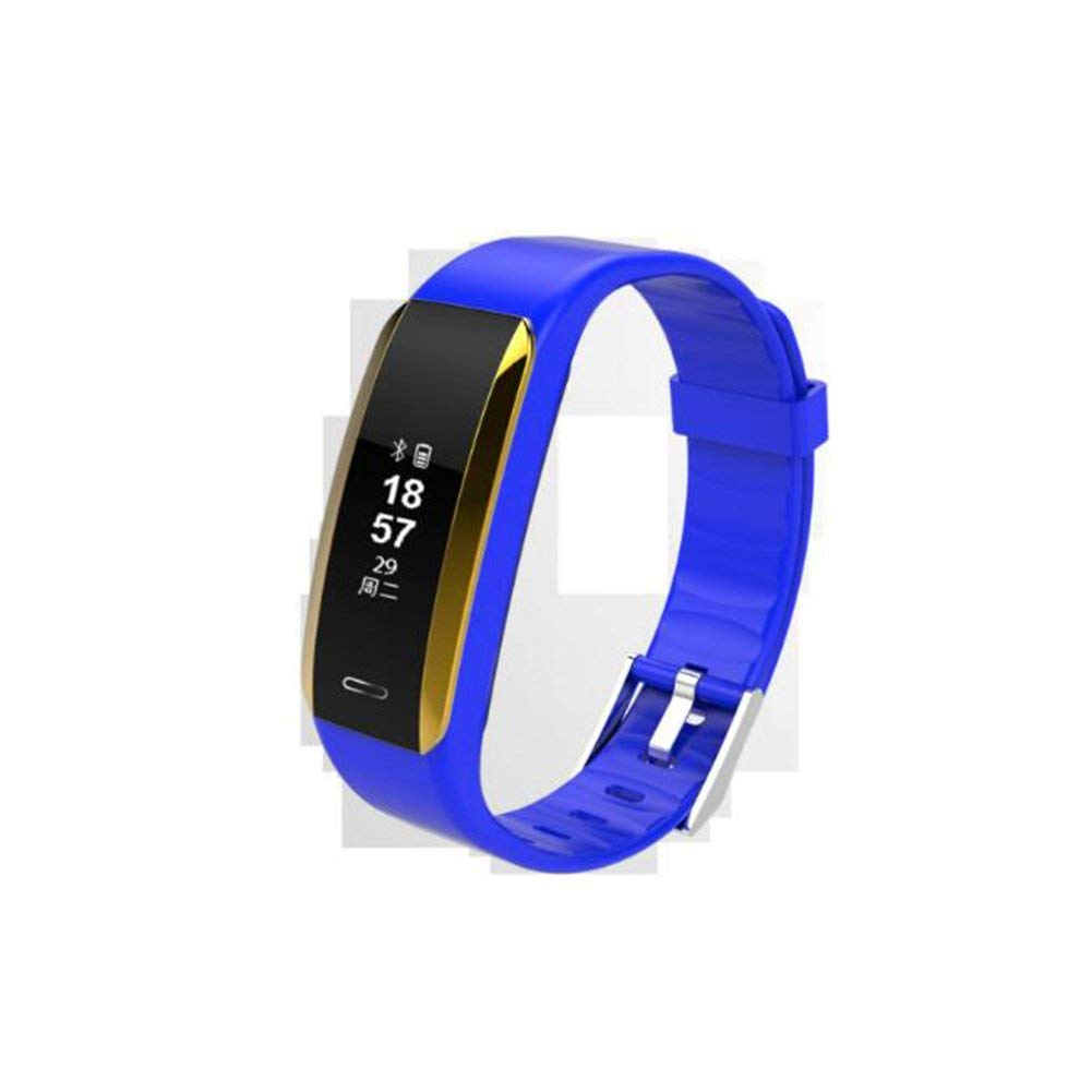 LIRONG Smart Bracelet, Fitness Tracker, Blood Pressure, Heart Rate Monitor, Bluetooth Sports, Healthy Wear Applies To ANDROID,Ios,Blue