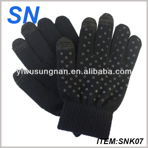 hot fashion winter Wool touch gloves for iphone&ipad with 100%wool,best quality and samll MOQ