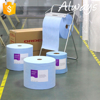 Disposable nonwoven super absorbent industrial cleaning towels
