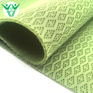 2018 Hot selling raw material jacquard polyester fabric for sports shoes upper