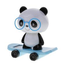 Милый скейтборд на солнечных батареях с поворотной головкой, игрушки для кукол, настольный домашний декор для автомобиля, доступно 10 типов(Китай)