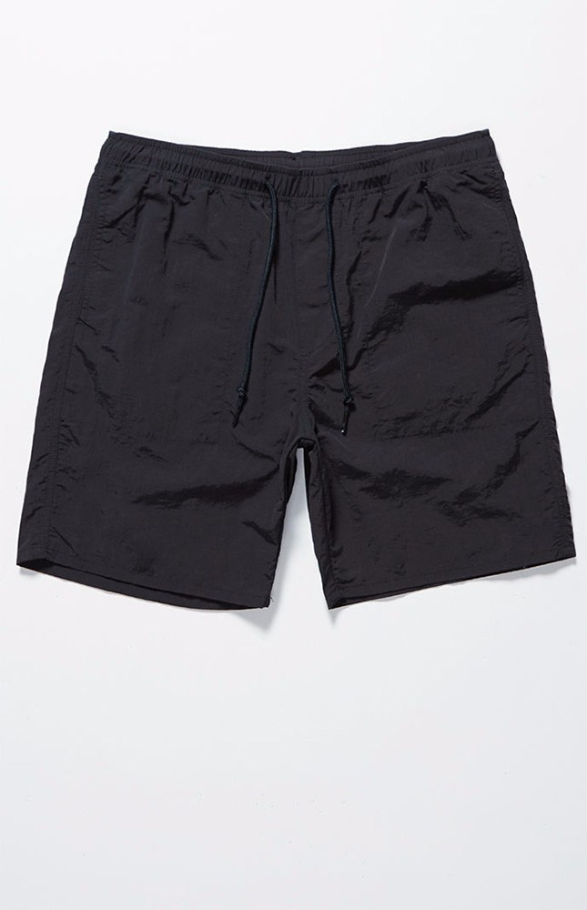 Groothandel Fit black nylon Shorts custom heren Strand Broek shorts
