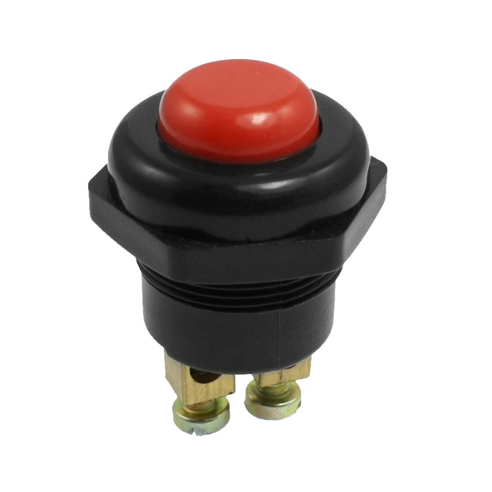 Mounted Hole Diameter 21.5mm Panel Mount Red Round Car Momentary Push Button Switch Assembly DC 12V Discount 70