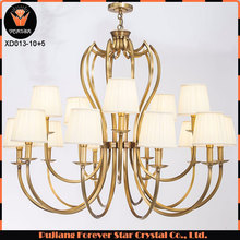 wholesale copper lighting lamps chandelier for hotel decoration