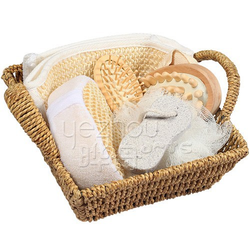skin care seagrass basket bathroom accessory sets