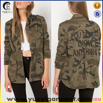 eb04356dab769 Wholesale Parka Jackets Army Camo Print Jacket For Women - Buy ...