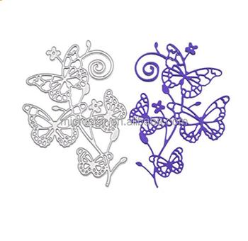 Erfly Stencil Template For Diy Sbook Al Paper Card Craft