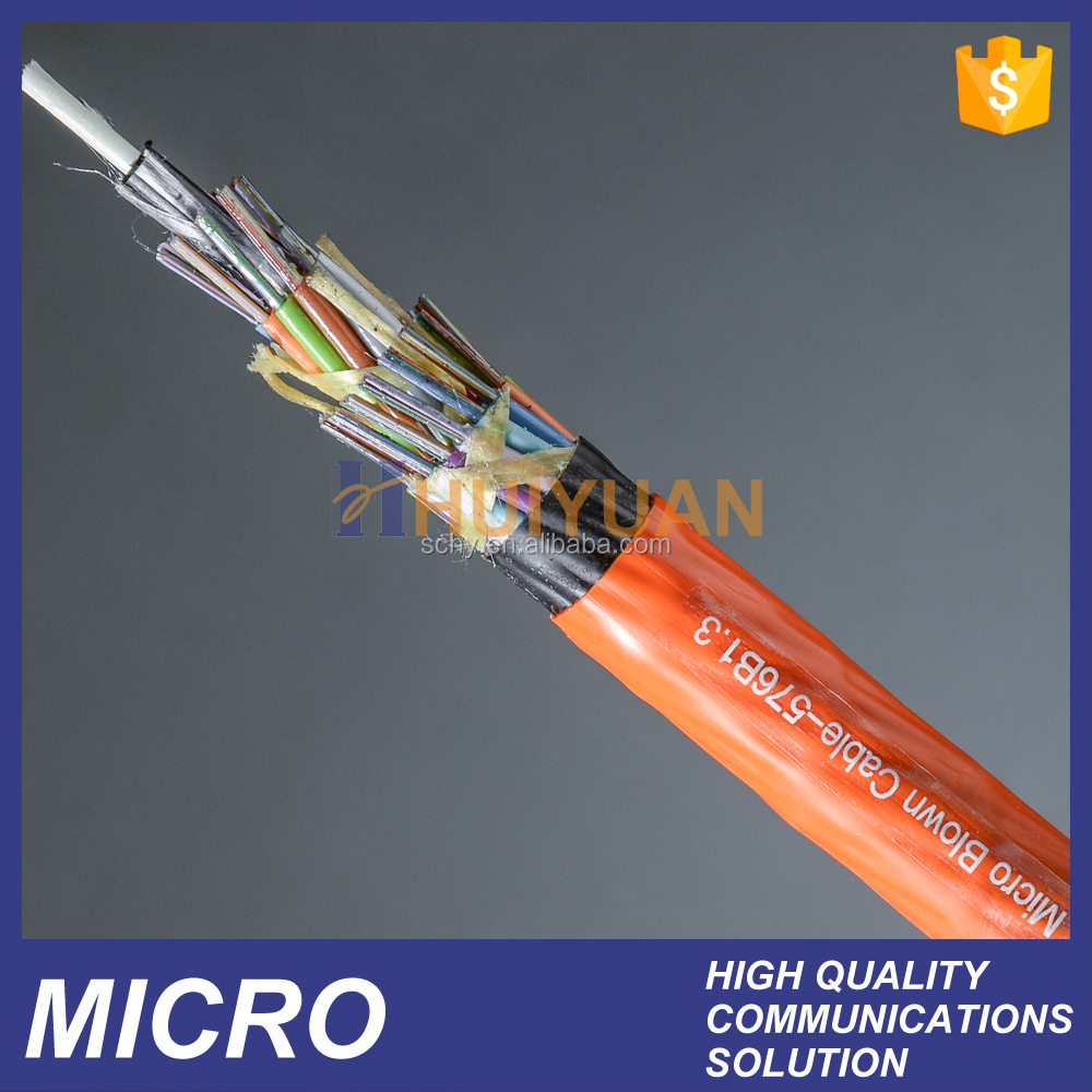 24~144 core Air blown micro duct fiber optic cable microfiber cable