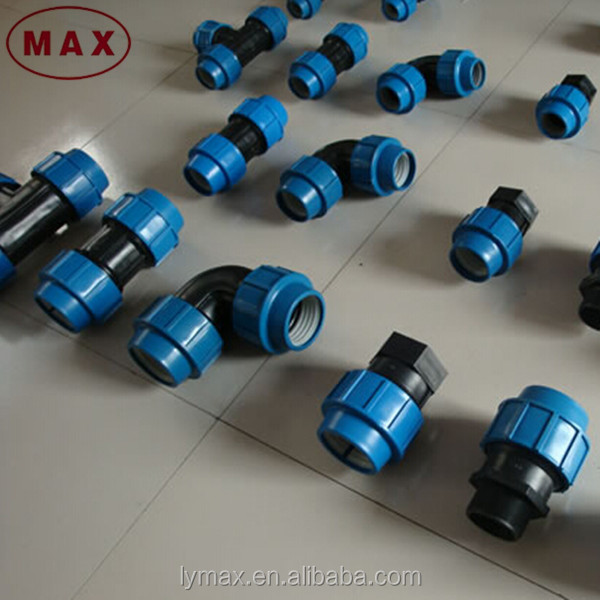 Hdpe farm water pipe fitting strait screw compression
