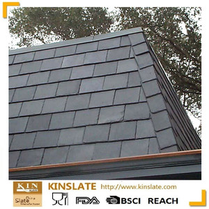 Natural black slate roofing