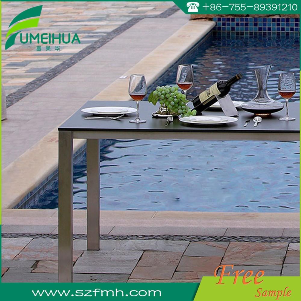Kfc Mcdonalds Gartentisch Mit Sonnenschirm Loch Hpl Tischplatte