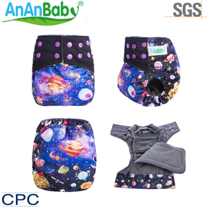 New Arrival Two Pocket Reusable AI2 Baby Nappy Waterproof PUL OEM/ODM Sleepy Cloth Diaper With Double Gusset