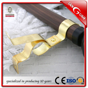 metal strong window double curtain rod bracket
