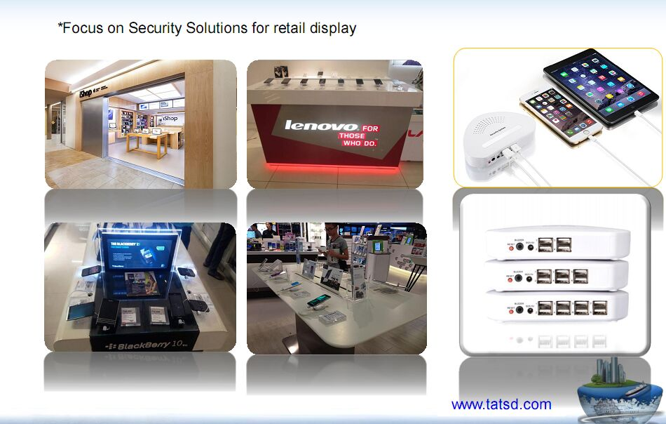 Retail display anti theft alarm device mobile phone tablet