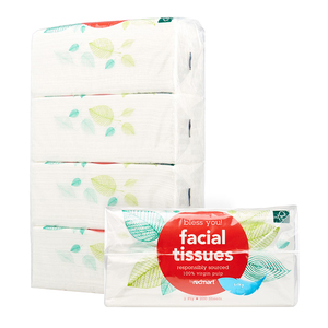 Natural Virgin Paper Pulp Facial Tissue with Soft Pack