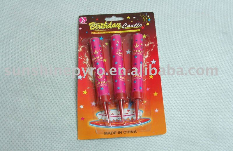 fantasy birthday cake candle fountain fireworks