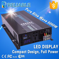 hot sale single phase 12v dc to 240v ac 5000w pure sine wave solar power inverter