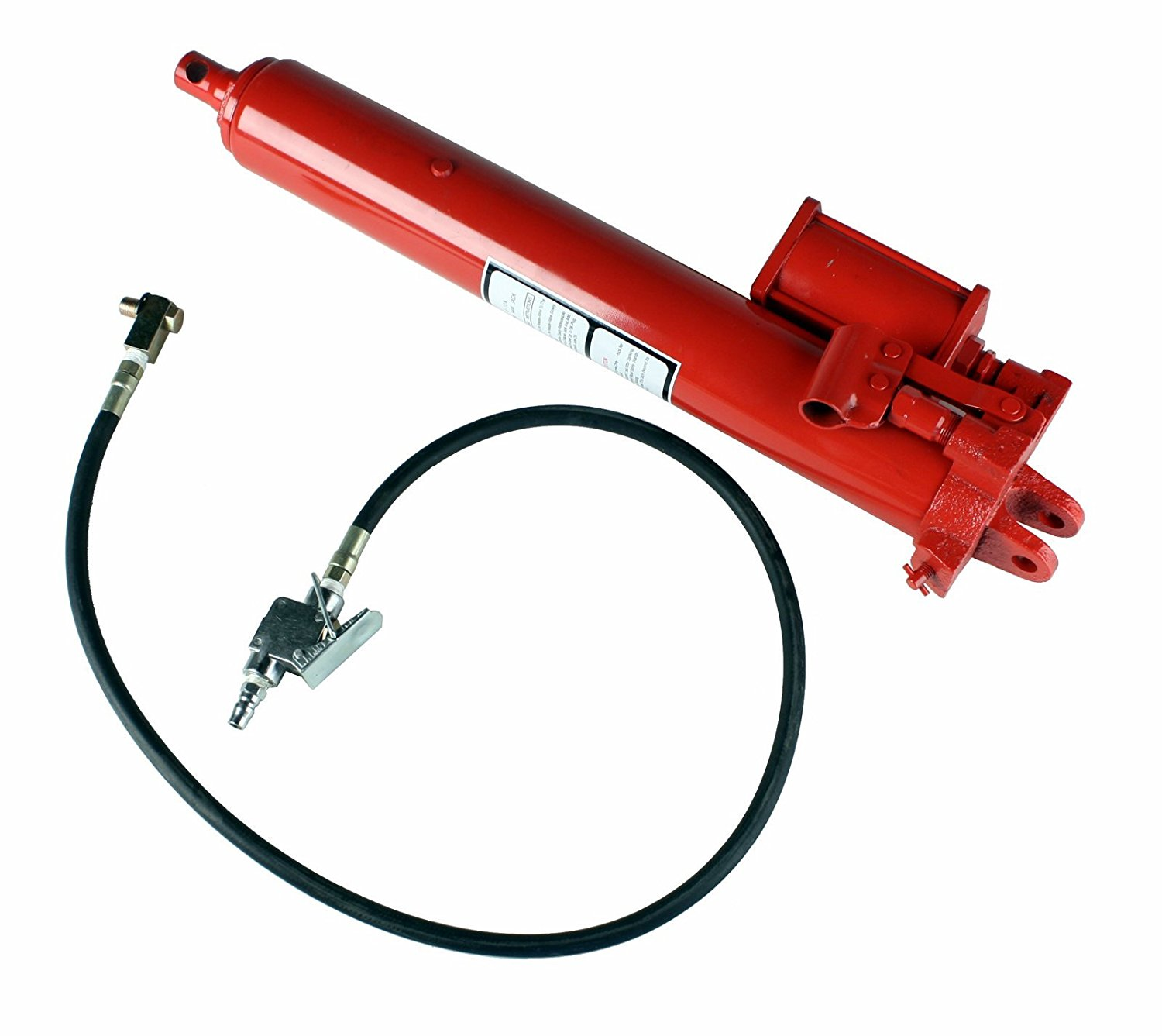 Dragway Tools 8 Ton Hydraulic and Air Long Ram for Engine Hoist Cherry Picker Shop Crane Jack