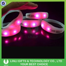 Concert Party Promotional Silicone Bracelet With Led, Flashing LED Waistband Giveaway Gift