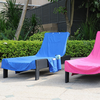 Supersoft Quick Dry 100% Microfiber Fabric Beach/Pool Lounge Chair Towel Cover with Storage Pockets Lounge Chair Towels