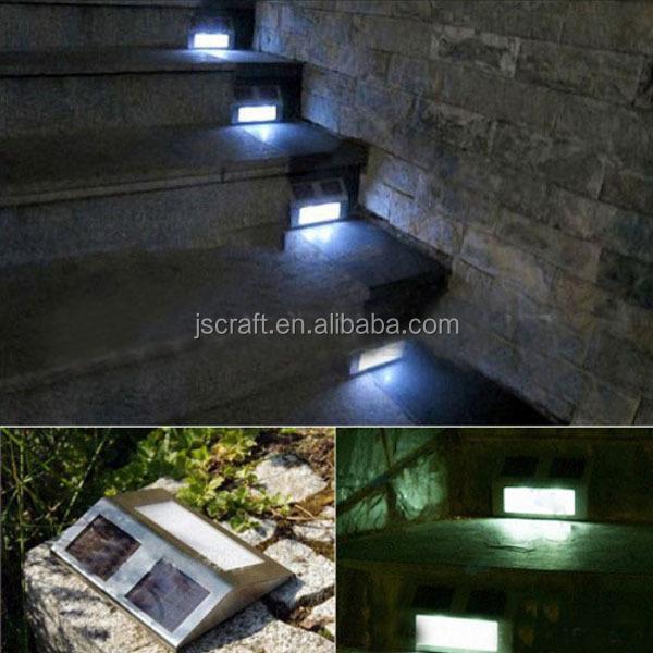 Waterproof 4 Led Solar Stair Light Step Light Garden Modern ...