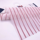 2018 new arrival printed silk cotton voile fabric yarn dyed stripe silk cotton fabric for women shirts