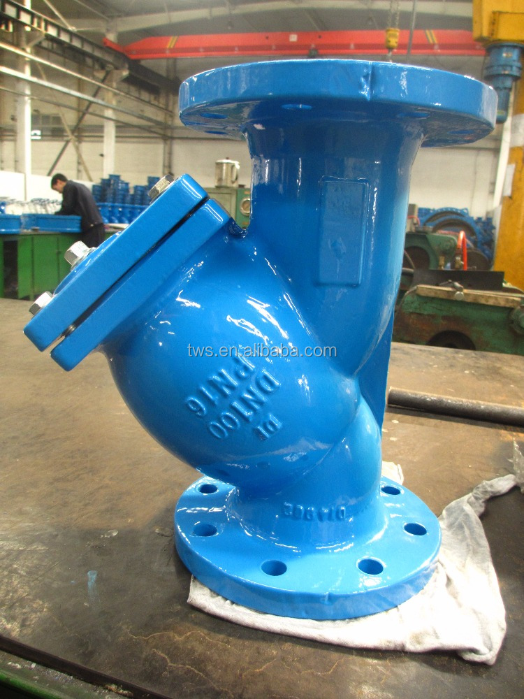 DN200 Flange Connection Y strainer with Stainless Steel Screen