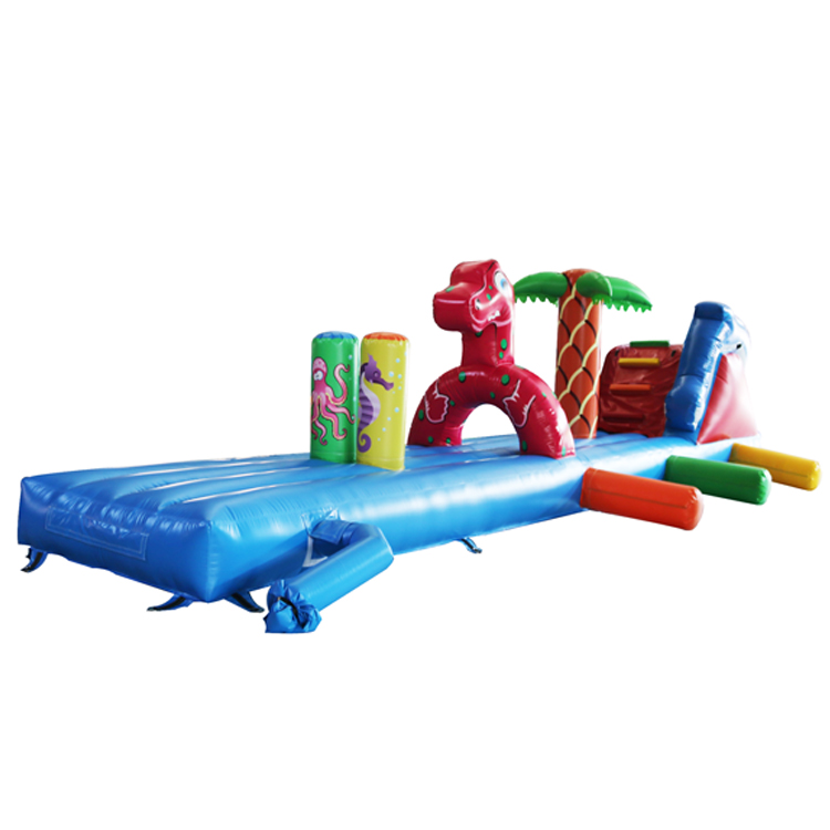 2018 hot sale inflatable water obstacle sports games/swimming pool water obstacle in playground
