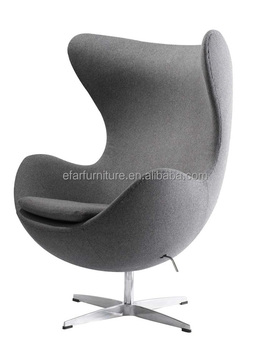 Replica Fritz Hansen Leather Egg Chair Design By Arne Jacobsen