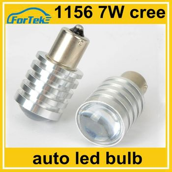 12v Car Led Parking Light Bulb 1156 Ba15s Cree 7w With Projector ...