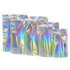Custom printed holographic packaging bag with ziplock