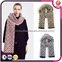//Wholesale fashion scarf women warm and comfortable tartan cashmere pashmina scarf//