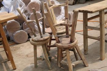 Vendita Sgabelli Da Bar In Legno : Naturale vecchio pino rustico sgabello in legno piccolo rotondo