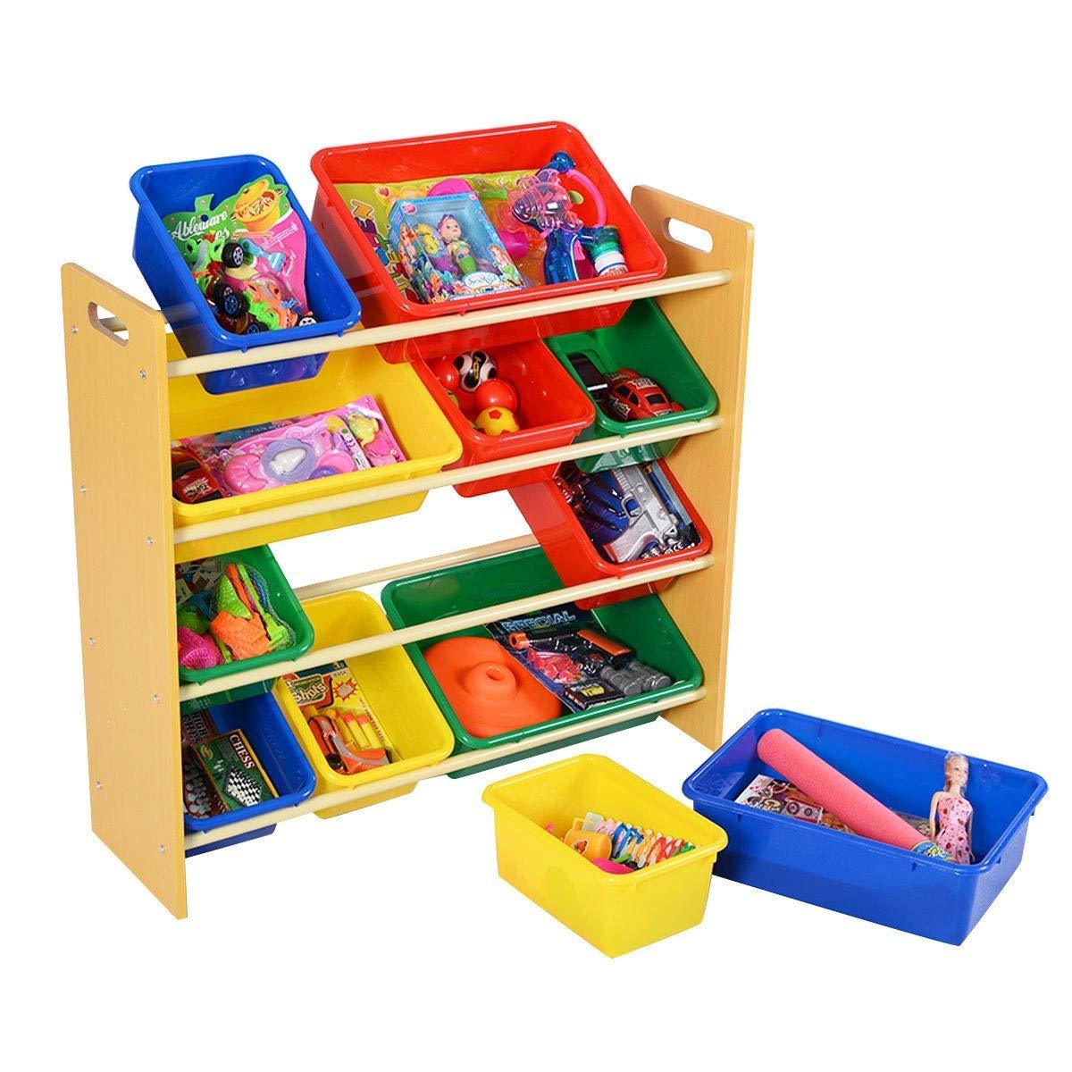 MRT SUPPLY Toy Bins Organizer Storage Box with Ebook