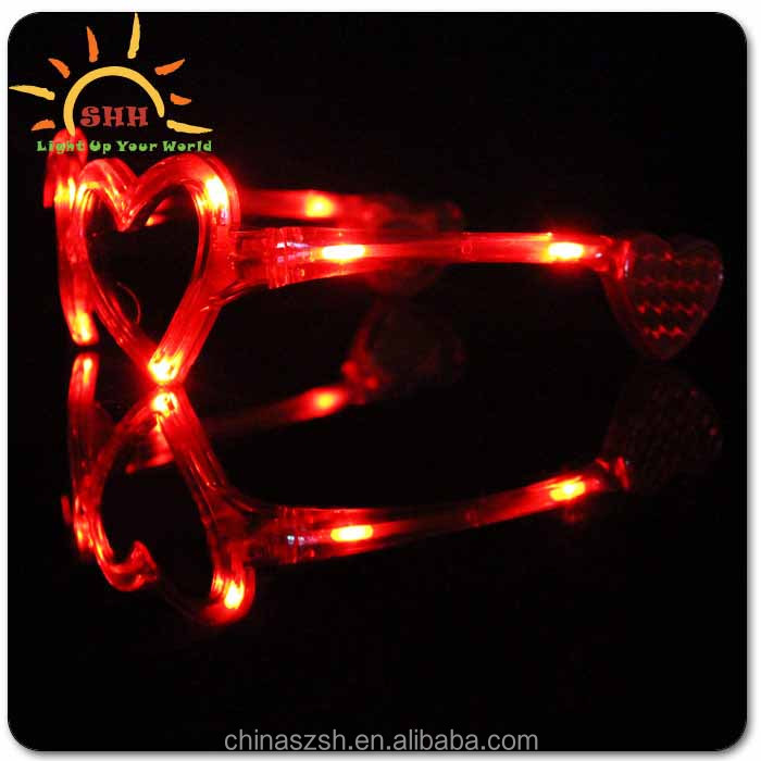 Promotional Heart Shaped Led Eyewear For Party